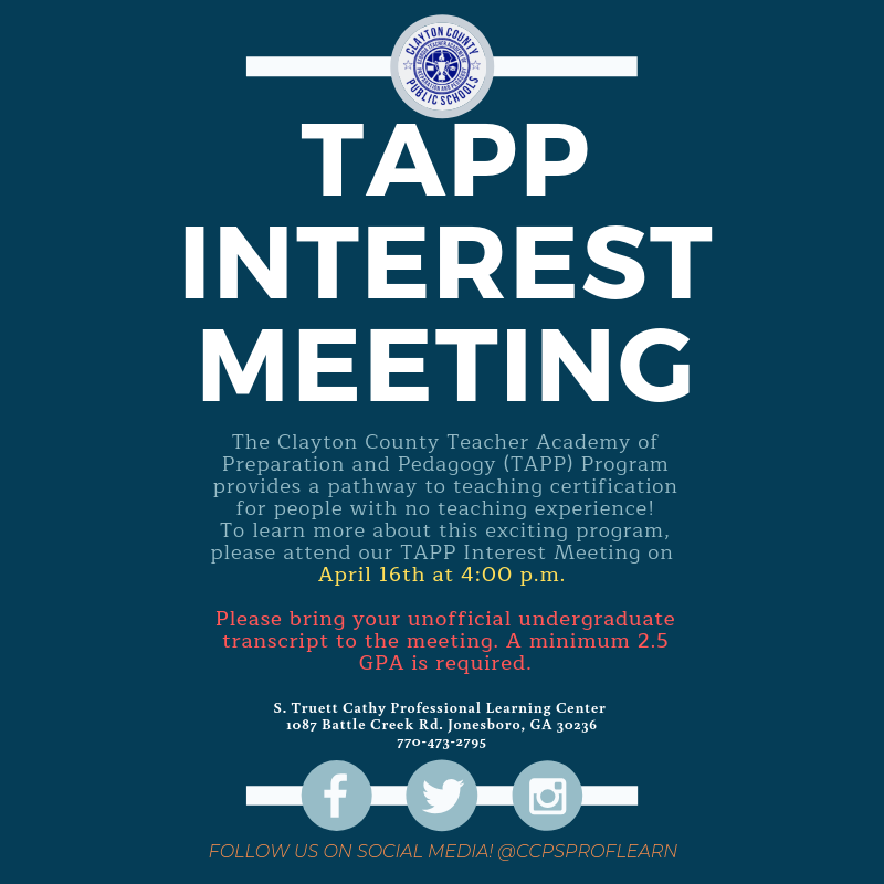 TAPP Interest Meeting April